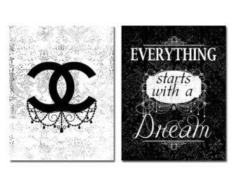 Printable Coco Chanel Logo Chanel Wall Art Chanel Logo Chic Frames