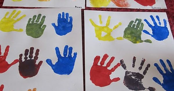 Fun Way To Teach Mixing Colors Paint One Hand A Color