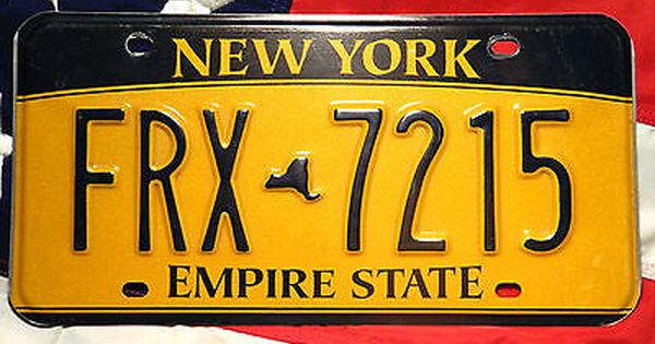New York License Licence Plate Plates Usa Number American