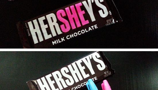 'He or She' Hershey Bar Baby Shower Favor | Click Pic for