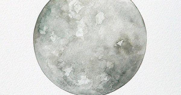 Luna 7 original 10x12 moon painting minimalist for Minimal art resumen