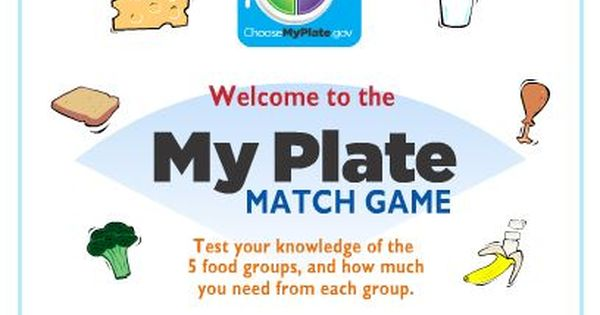 My Plate Food Group Match Game Health And Physical Education Healthy Eating Games Teaching Kids