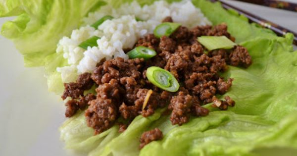 Korean Ground Beef And Rice Lettuce Wraps Recipe Recipe Beef Lettuce Wraps Wrap Recipes Lettuce Wrap Recipes