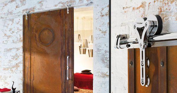 Mwe Duplex Modern Barn Door Hardware Is Suitable For