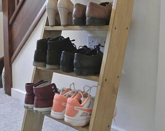Solido Madera Zapatos Estante Roble Color Almacenamiento 4 Estante Estantes 90cm De Altura Estantes Para Zapatos Estante Zapateras De Madera
