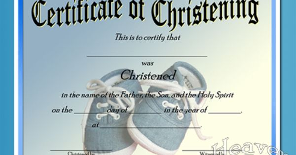 baby christening certificate template free