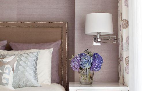 Blair harris interior design bedrooms mauve grasscloth mauve grasscloth wallpaper brown - Mauve bedroom decorating ideas ...