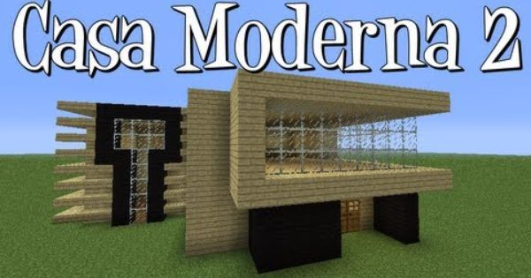 Tutoriais minecraft como construir a casa moderna 2 for Casa moderna 0 12 1