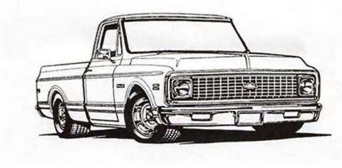 72 Chevy Truck Colouring Pages 72 Chevy Truck Truck Tattoo