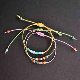 Beaded Friendship Bracelet Diy Craft Gawker Crafts