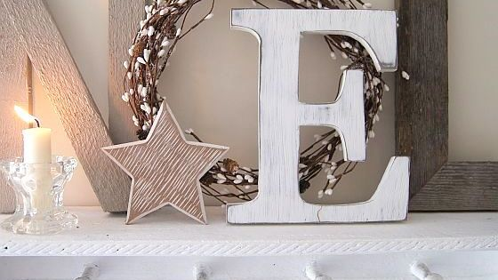 Rustic letters Noel Christmas Decor Burlap Wreath Star Holiday Decoration