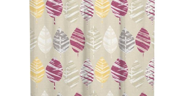 Leaf Multicolor Lucia Water Repellent Shower Curtain By A1 Home