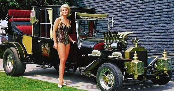 Beautiful Marilyn Munster Pat Priest & Munsters Koach TV Hot Rod PHOTO! #33 | eBay