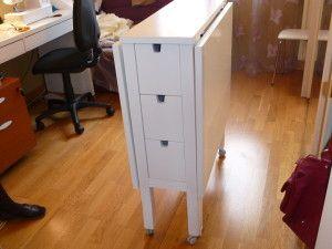 La Table De Coupe De Sylviane Coupe Ikea Table De Couture