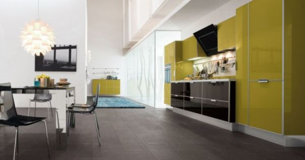 mensole moderne : Green kitchen, Kitchens and Green on Pinterest