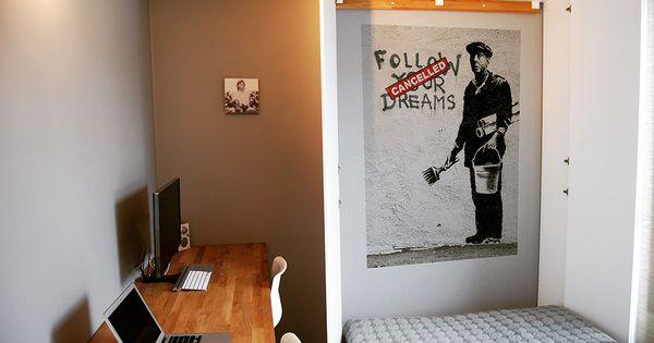 lit escamotable ikea diy avec une armoire pax un an and 39. Black Bedroom Furniture Sets. Home Design Ideas