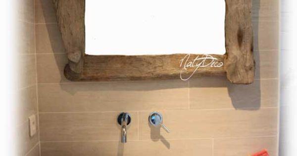 Meuble de salle de bain en bois flott natydeco http www for Salle de bain en bois flotte