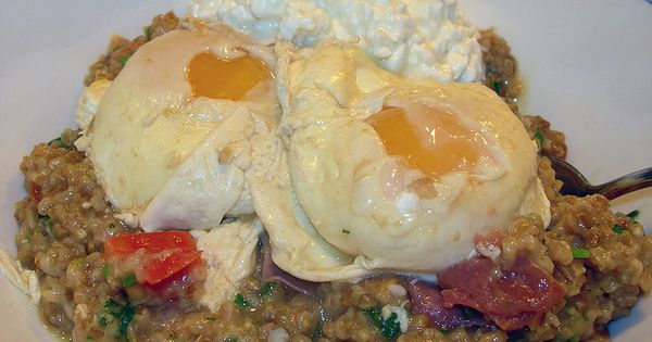 ... Eggs   Delicious Things   Pinterest   Savory Oatmeal, Poached Eggs and