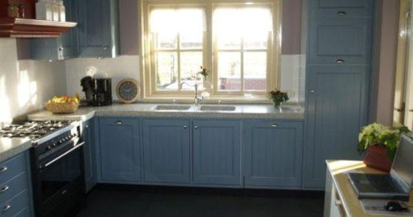 Vri interieur landelijke keuken klassiek blauw met for Landelijk klassiek interieur
