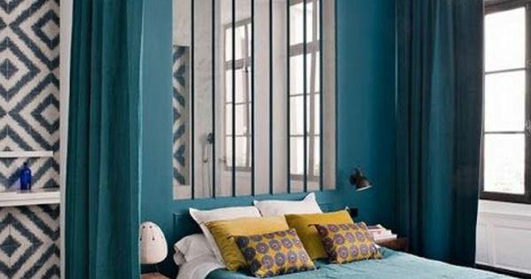 La s paration de pi ce amovible optez pour un rideau turquoise et atelier - Scheiding de piece amovible ...
