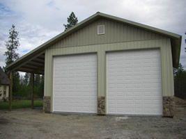 Pole Barn Garage Garage Door Spokane Shop Pole Barn Building Doors Overhead Doors Building A Pole Barn Shop Garage Doors Pole Buildings