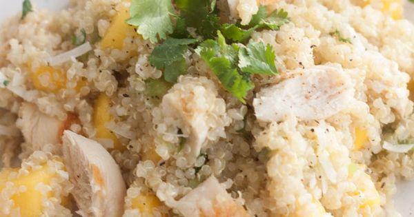Mango Chicken Quinoa Salad | Recipe | Mango chicken and ...