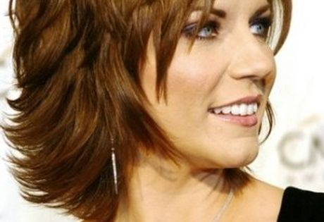 Medium Length Gypsy Shag Haircut For Women Over 50