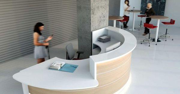 mostradores de recepcin y mobiliario de oficina moderno recepcion pinterest