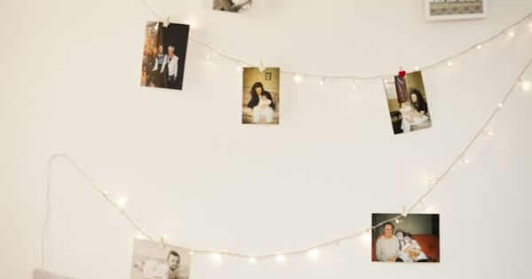 id e d co mur photos guirlande lumineuse conseils d co pinterest belle photos et polaro d. Black Bedroom Furniture Sets. Home Design Ideas