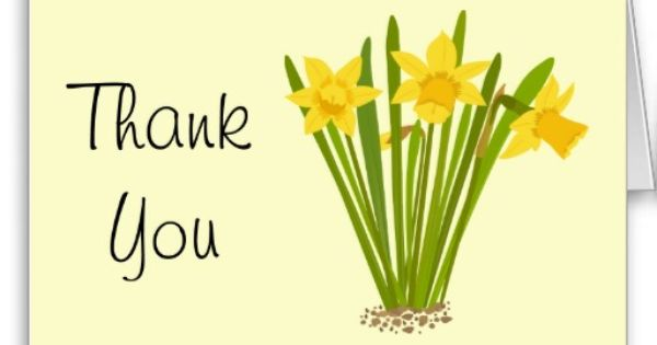 Thank you card template, Card templates and Daffodils on Pinterest