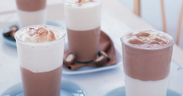 Homemade Malted Milk Shakes Recipe -- black and white malts are one