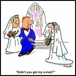 Computer Wedding Joke Funny Cartoon Pictures Funny Cartoons Cartoon Jokes
