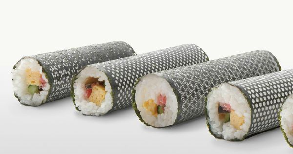 lasercut nori for designer sushi. 'design nori', developed by creative agency I
