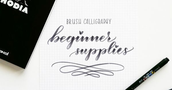 Beginner Supplies Brush Calligraphy The Number One