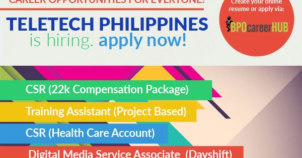 Teletech philippines hiring! Apply now   bpocareerhub - Resume Now Customer Service
