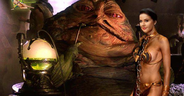 Helen Ganzarolli Princess Leia Slave Jabba Hutt by c ... Jabba The Hutt And Princess Leia Costume