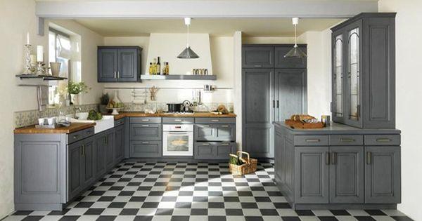 une d co de style maison de famille dans la cuisine chic photos et cuisine. Black Bedroom Furniture Sets. Home Design Ideas