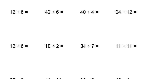 Negative Number Division Worksheets Matematyka