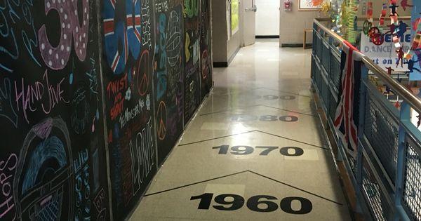 Dance Through The Decades Decorated Hallway Chalkboard