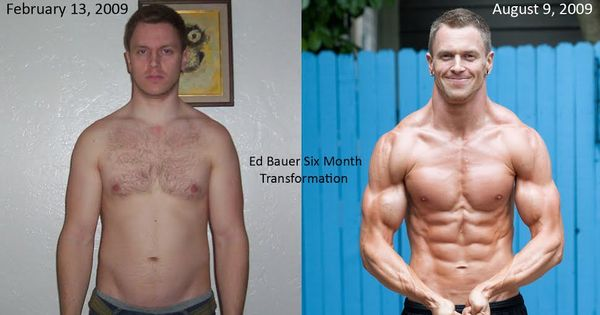 Vegan bodybuilding before and after