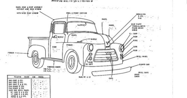 details about 1955 56 dodge c 2 ton pickup nos body