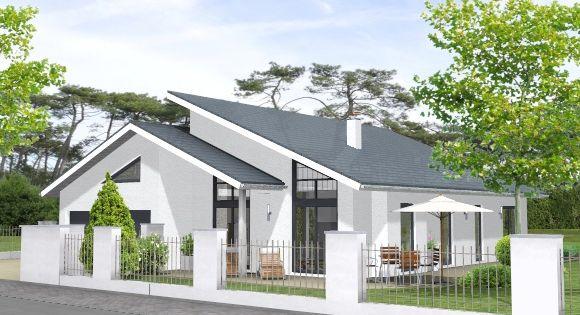 Massivhaus bungalow bungalow 162 architektur pinterest for Massivhaus modern