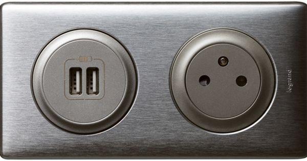 Double Prise Legrand Usb Et Prise Electrique Affleurante Interrupteurs Interupteur Appareillage Electrique