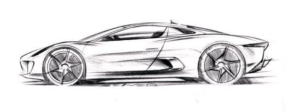 Jaguar C X75 Supercar Design Car Design Sketch Car Design