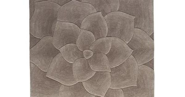 Rose Tufted Rug Gray With Images Tufted Rug