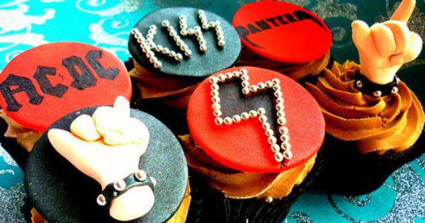 Hard Rock Kiss Ac Dc Metallica Best Cupcakes Ever