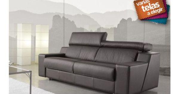 Sof cama de tres plazas con respaldos reclinables - Sofa para tres ...