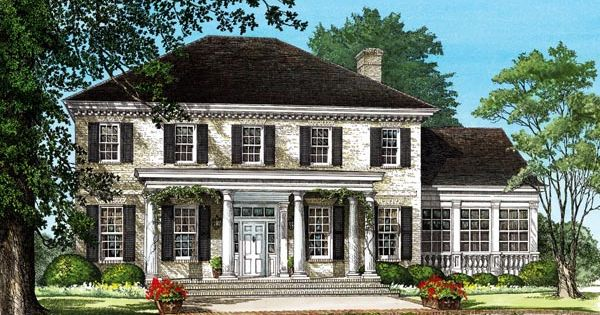 Colonial plantation southern house plan 86242 house for Historic plantation house plans