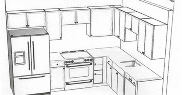 8x10 kitchen layout small kitchen pinterest layout for Kitchen cabinets 8x10