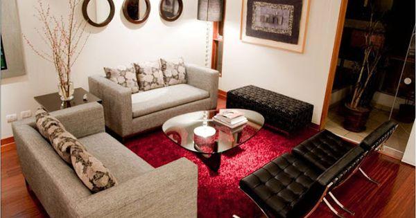 Hermosas salas modernas y peque as by artesydisenos for Decorando mi sala
